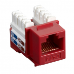 Box CAT6 Value Line Keystone Jack Red 5-Pack - 5 Pack - 1 x RJ-45 Female - Gold-plated Contacts - Red