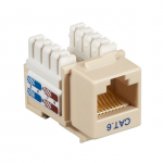 Box CAT6 Value Line Keystone Jack Ivory 5-Pack - 5 Pack - 1 x RJ-45 Female - Gold-plated Contacts - Ivory