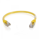 6in Cat6 Snagless Shielded (STP) Ethernet Network Patch Cable - Yellow - Patch cable - RJ-45 (M) to RJ-45 (M) - 6 in - screened shielded twisted pair (SSTP) - CAT 6 - molded snagless stranded - yellow