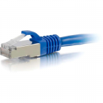 25ft Cat6a Snagless Shielded (STP) Network Patch Ethernet Cable Blue - Patch cable - RJ-45 (M) to RJ-45 (M) - 25 ft - STP - CAT 6a - snagless stranded - blue