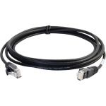 2ft Cat6 Snagless Unshielded (UTP) Slim Ethernet Network Patch Cable - Black - Patch cable - RJ-45 (M) to RJ-45 (M) - 2 ft - UTP - CAT 6 - molded snagless - black