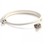 6ft 14AWG Power Cord (IEC320C14 to IEC320C13) - White - Power cable - TAA Compliant - IEC 60320 C14 to IEC 60320 C13 - AC 250 V - 15 A - 6 ft - white