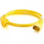 5ft 14AWG Power Cord (IEC320C14 to IEC320C13) - Yellow - Power cable - IEC 60320 C14 to IEC 60320 C13 - AC 250 V - 15 A - 5 ft - yellow