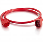 6FT 14AWG Power Cord (IEC320C14 to IEC320C13) - Red - Power cable - IEC 60320 C14 to IEC 60320 C13 - AC 250 V - 15 A - 6 ft - red