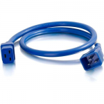 6ft 12AWG Power Cord (IEC320C20 to IEC320C19) - Blue - Power cable - TAA Compliant - IEC 60320 C20 to IEC 60320 C19 - 250 V - 20 A - 6 ft - blue