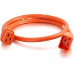 10ft 12AWG Power Cord (IEC320C20 to IEC320C19) - Orange - Power cable - IEC 60320 C20 to IEC 60320 C19 - 250 V - 20 A - 10 ft - orange
