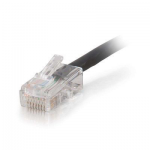 Cat5e Non-Booted Plenum-Rated Unshielded (UTP) Network Patch Cable - Patch cable - RJ-45 (M) to RJ-45 (M) - 50 ft - UTP - CAT 5e - plenum - black