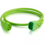 6ft 14AWG Power Cord (IEC320C14 to IEC320C13) - Green - Power cable - TAA Compliant - IEC 60320 C14 to IEC 60320 C13 - 250 V - 15 A - 0.7 in - green