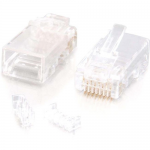 RJ45 Cat5E Modular Plug (with Load Bar) for Round Solid/Stranded Cable - 10pk - RJ-45