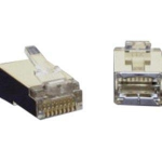 RJ45 SHIELDED CAT5 MODULAR PLUG FOR ROUND SOLID CABLE - 100PK