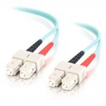1m SC-SC 10Gb 50/125 OM3 Duplex Multimode PVC Fiber Optic Cable - Aqua - Fiber Optic for Network Device - SC Male - SC Male - 10Gb - 50/125 - Duplex Multimode - OM3 - 10GBase-SR 10GBase-LRM - 1m - Aqua