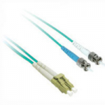 LC-ST 10Gb 50/125 OM3 Duplex Multimode Fiber Optic Cable (Plenum-Rated) - Patch cable - LC multi-mode (M) to ST multi-mode (M) - 3 m - fiber optic - 50 / 125 micron - OM3 - plenum - aqua