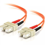 SC-SC 62.5/125 OM1 Duplex Multimode Fiber Optic Cable (Plenum-Rated) - Patch cable - SC multi-mode (M) to SC multi-mode (M) - 5 m - fiber optic - 62.5 / 125 micron - OM1 - molded plenum - orange