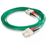 5m SC-SC 62.5/125 OM1 Duplex Multimode PVC Fiber Optic Cable - Green - Patch cable - SC multi-mode (M) to SC multi-mode (M) - 5 m - fiber optic - 62.5 / 125 micron - OM1 - green