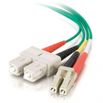 2m LC-SC 62.5/125 OM1 Duplex Multimode PVC Fiber Optic Cable - Green - Patch cable - LC multi-mode (M) to SC multi-mode (M) - 2 m - fiber optic - 62.5 / 125 micron - OM1 - green