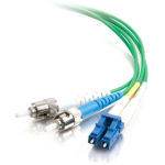 5m LC-ST 9/125 Duplex Single Mode OS2 Fiber Cable - Plenum CMP-Rated - Green - 16ft - Patch cable - LC single-mode (M) to ST single-mode (M) - 5 m - fiber optic - 9 / 125 micron - OS1 - plenum - green
