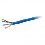 Cat5e Unshielded (UTP) Network Cable with Solid Conductors - Plenum CMP-Rated - cable - 1000 ft - UTP - CAT 5e - plenum solid - blue