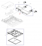 Rear ADF cover assembly - Includes the rear ADF electronics cover and the two hinge covers