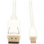 Lite Mini DisplayPort to DisplayPort Cable (M/M) 6-ft - DisplayPort for Audio/Video Device Monitor Notebook - 6 ft - 1 x DisplayPort Male Digital Audio/Video - 1 x Mini DisplayPort Male Thunderbolt - White