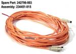 Fiber-optic short wave multimode interface cable - 50um core 125um cladding - SC connectors - 15m (49ft) long