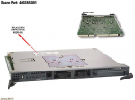 HSG80 Array Controller module - Has ports for two Fiber Channel inputs and six Ultra Wide Single-Ended SCSI outputs - Does not include Gigabit Interface Converter (GBIC) modules memory cables or program card