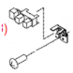 Option sensor assembly - Includes the photo interrupter (TLP1424) and bracket