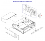 Right front cover - Right front corner cover of 500 sheet feeder assembly