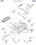 Release lever - Fuser release lever on left side of printer
