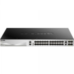 DGS-3130 24 Ports Managed L3 Gigabit SFP Switch with 6x10GbE Port Brown Box