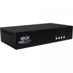 Secure KVM Switch Dual Monitor DVI to DVI - 4-Port NIAP PP3.0 Certified Audio CAC Support - KVM / audio switch - 4 x KVM / audio - 1 local user - desktop - TAA Compliant