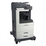 MX812DPE Laser Multifunction Printer - Monochrome - Plain Paper Print - Floor Standing - Copier/Fax/Printer/Scanner - 70 ppm Mono Print - 1200 x 1200 dpi Print - 70 cpm Mono Copy - Touchscreen - 600 dpi Optical Scan - Automatic Duplex Print - 1200