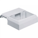 Workstation Outlet Center Offset Box - Cable raceway interface box - off white