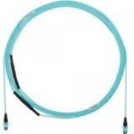 QuickNet PanMPO Small Diameter Trunk Cable Assemblies - Network cable - PanMPO multi-mode (F) to PanMPO multi-mode (F) - 10 m - fiber optic - 50 / 125 micron - OM3 - indoor plenum - aqua