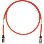 TX6A 10Gig - Patch cable - RJ-45 (M) to RJ-45 (M) - 12 ft - SFTP - CAT 6a - IEEE 802.3at - booted halogen-free snagless stranded - red