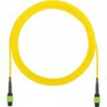 QuickNet Interconnect Round Cable Assemblies - Network cable - MPO single-mode (F) to MPO single-mode (F) - 15.2 m - fiber optic - 9 / 125 micron - OS1/OS2 - plenum - yellow