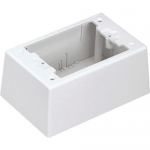 Pan-Way Single Gang Two-Piece Screw Together Intermediate Outlet Box - Cable raceway junction box - off-white