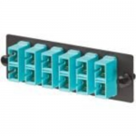 Opticom Fiber Adapter Panels - Patch panel - aqua - 6 ports