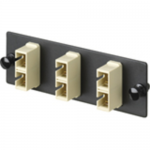 Opticom Fiber Adapter Panels - Patch panel - electric ivory - 6 ports