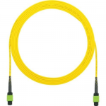 QuickNet MPO Interconnect Round Cable Assemblies - Network cable - MPO single-mode (F) to MPO single-mode (F) - 8 m - fiber optic - 9 / 125 micron - OS1/OS2 - halogen-free indoor round - yellow