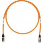 TX6A 10Gig - Patch cable - RJ-45 (M) to RJ-45 (M) - 12 ft - SFTP - CAT 6a - IEEE 802.3at - booted halogen-free snagless stranded - orange