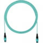 QuickNet PanMPO Round Interconnect Cable Assemblies - Network cable - PanMPO multi-mode (F) to PanMPO multi-mode (F) - 9 m - fiber optic - 50 / 125 micron - OM4 - indoor plenum round - aqua