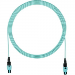 QuickNet PanMPO Round Interconnect Cable Assemblies - Network cable - PanMPO multi-mode (F) to PanMPO multi-mode (F) - 2 m - fiber optic - 50 / 125 micron - OM3 - indoor plenum round - aqua