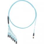 QuickNet - Network cable - MPO multi-mode (F) to LC multi-mode (M) - 5.79 m - fiber optic - 50 / 125 micron - OM4 - molded plenum flat - aqua