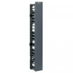NetRunner - Rack cable management panel (vertical) - black - 45U