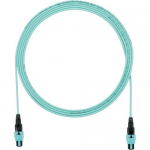 QuickNet PanMPO Round Interconnect Cable Assemblies - Network cable - PanMPO multi-mode (F) to PanMPO multi-mode (F) - 5 m - fiber optic - 50 / 125 micron - OM3 - indoor plenum round - aqua