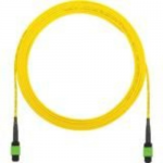 QuickNet Interconnect Round Cable Assemblies - Network cable - MPO single-mode (F) to MPO single-mode (F) - 7.62 m - fiber optic - 9 / 125 micron - OS1/OS2 - plenum - yellow