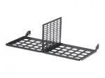 HD Flex Enclosure Trunk Slack Plate - Network device enclosure management plate - black - 4U