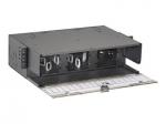 Opticom Rack Mount Fiber Enclosure - Rack cable enclosure - black - 3U - 19 inch /23 inch
