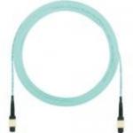 QuickNet Interconnect Cable Assemblies - Network cable - MPO multi-mode (F) to MPO multi-mode (F) - 11 m - fiber optic - 50 / 125 micron - OM3 - plenum - aqua