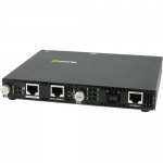 SMI-110-M1SC2D - 10/100 Fast Ethernet IP Managed Media and Rate Converter - 1 x Network (RJ-45) - 1 x SC Ports - Yes - 10/100Base-TX 100Base-BX - Rack-mountable Rail-mountable Wall Mountable Desktop